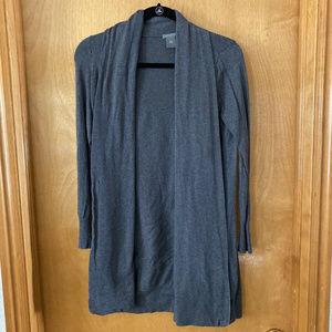 Women's Ann Taylor Grey Cardigan Sweater Size XS